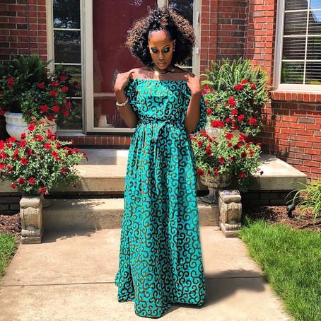 CUSTOM MADE AFRICAN PRINT DRESS