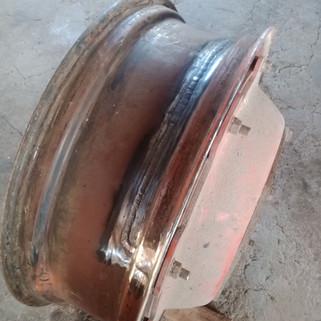 Réparation jante tracteur