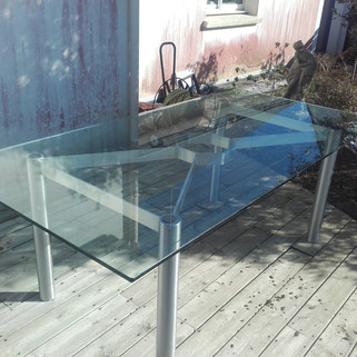 Table Inox et verre