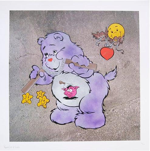 """Eine -""""Scare Bear"""" (purple)"""