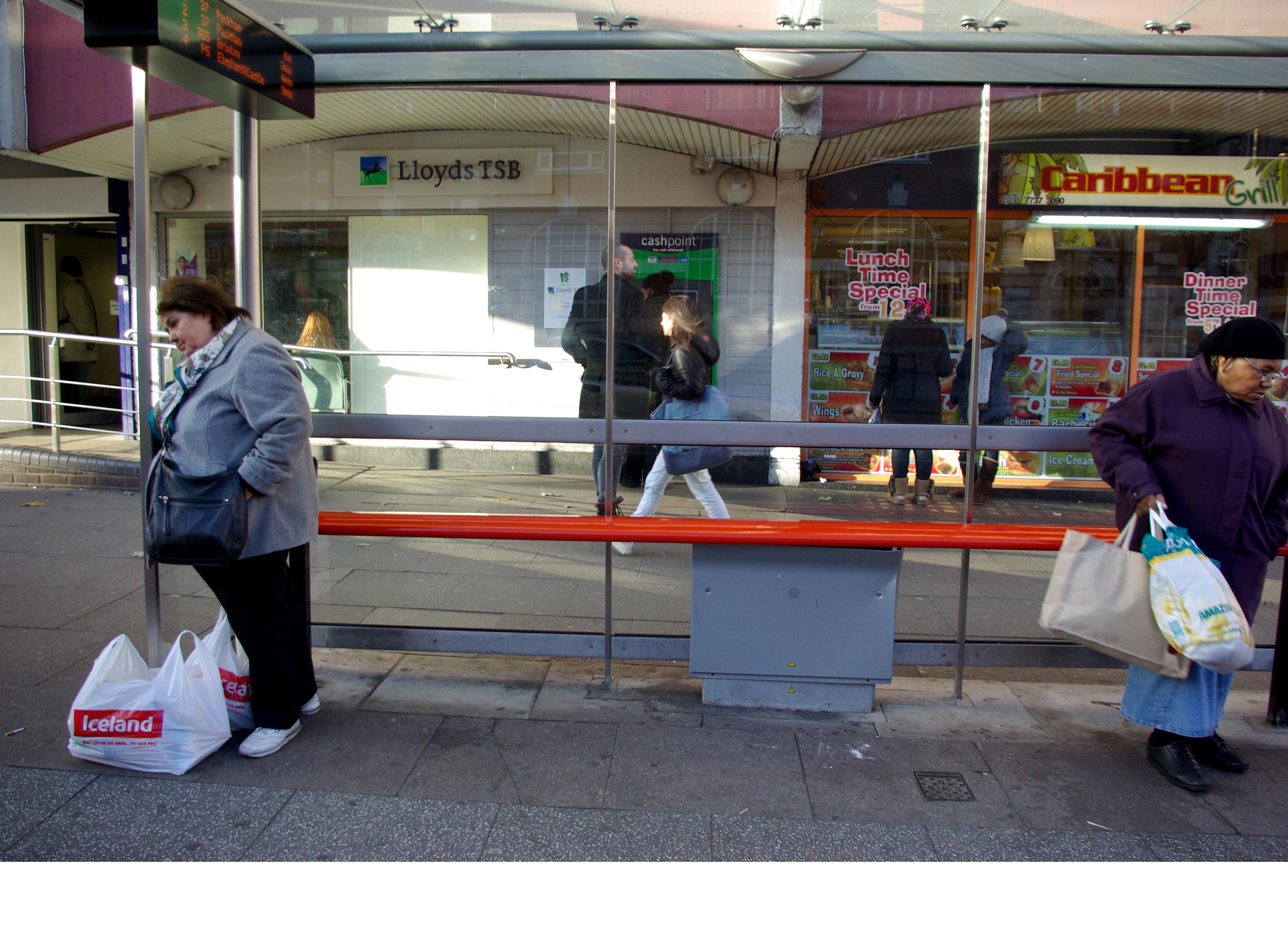 12 - Bus Stop 2013, London UK, C Print