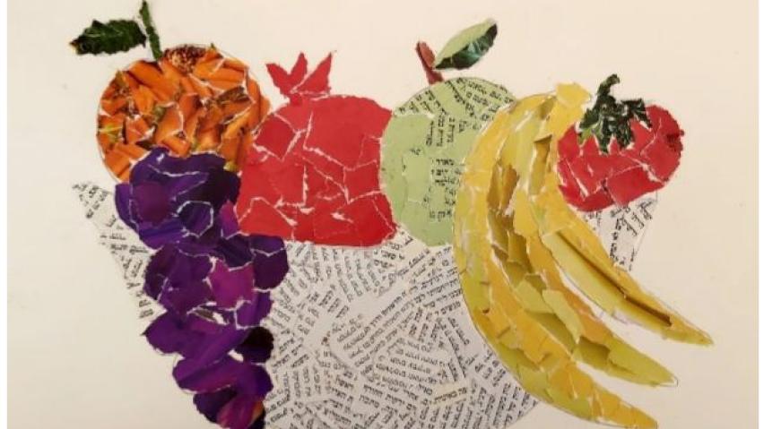Shavuot Celebrations - Online fruit basket collage workshop for kids