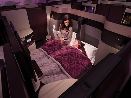 Een dubbel bed in het vliegtuig?  Dat kan!