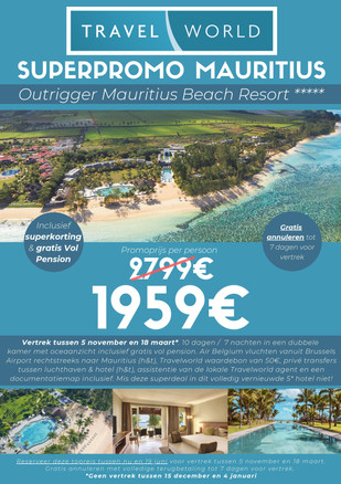 Promotie Mauritius - Outrigger Mauritius