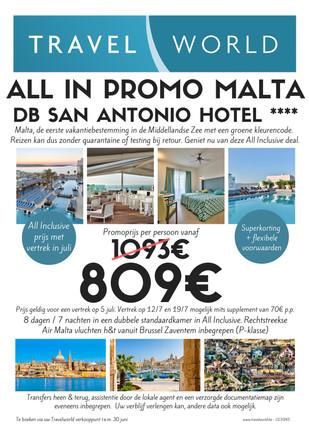 All Inclusive Promo Malta - DB San Anton