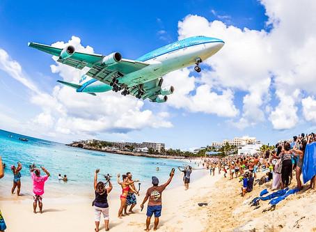 Gedurfd! Vliegtuigen spotten in Sint Maarten