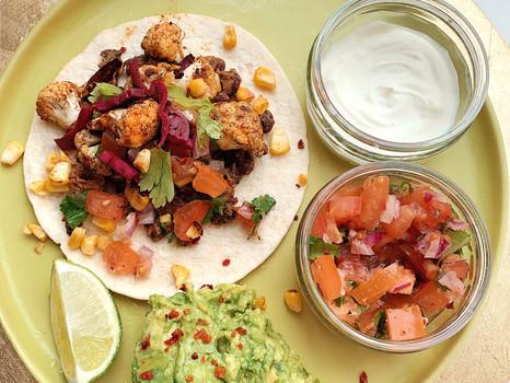 Cauliflower & Black Bean Tacos