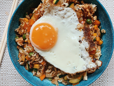 Crunchy & Colourful Egg Fried Rice