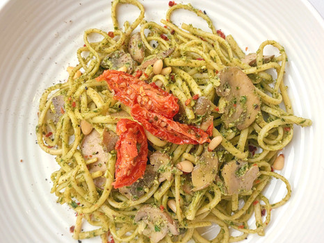 Kale & Walnut Pesto Pasta
