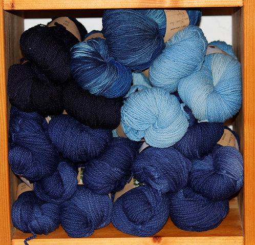 Echeveaux teints - Nuances de bleus