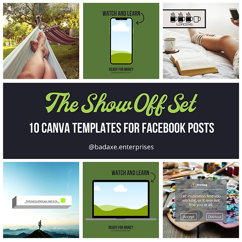 The Show Off Set: 10 Facebook Post Templates for Canva
