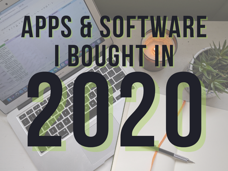 Apps & Software I Bought in 2020: The Good, The Bad, The Lame