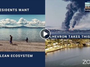 End the Negligence, Incompetence & Greed: Richmond Residents Demand Answers After Chevron Oil Spill