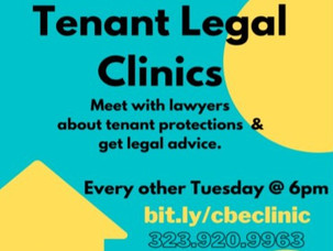 Tenant Legal Clinics Every Other Tuesday