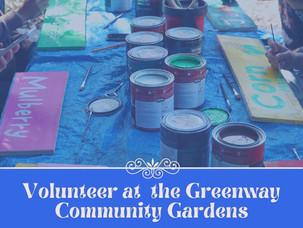Volunteer at the Greenway Community Gardens