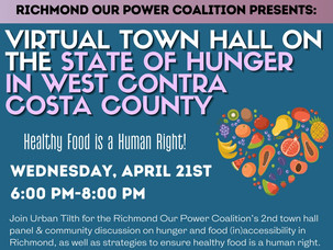 Virtual Town Hall on Hunger in Richmond
