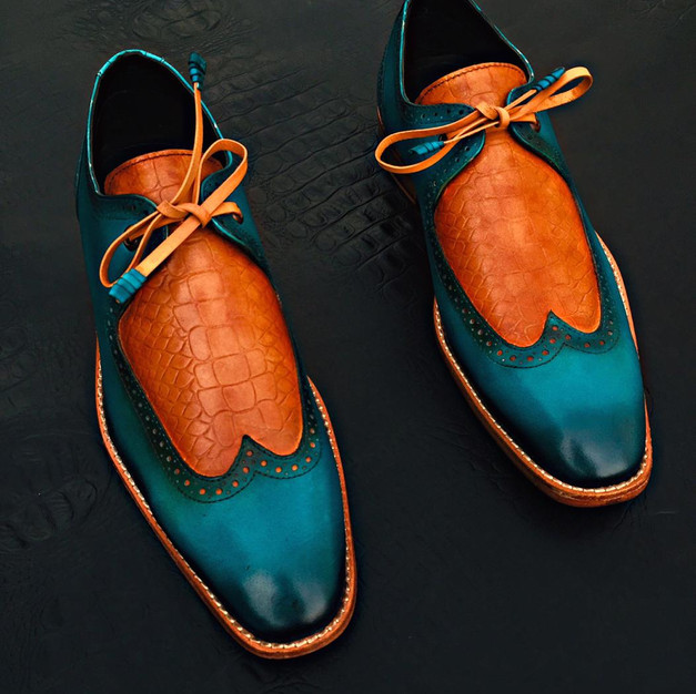 Mixed Color Leather Shoe