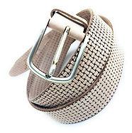 White Designer Belt