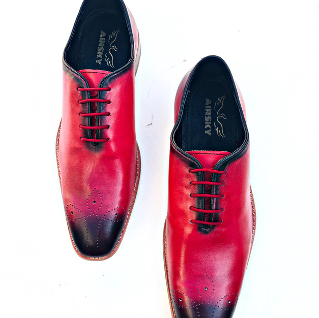 Wine Leather Shoe