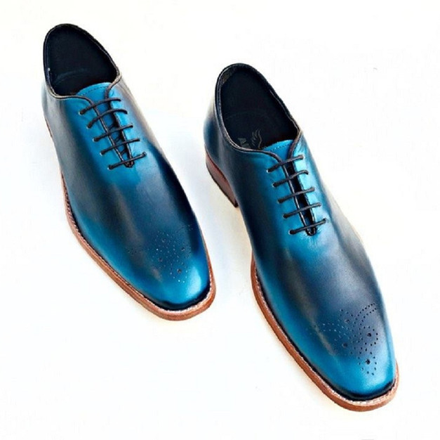 Blue Shad Leather Shoe
