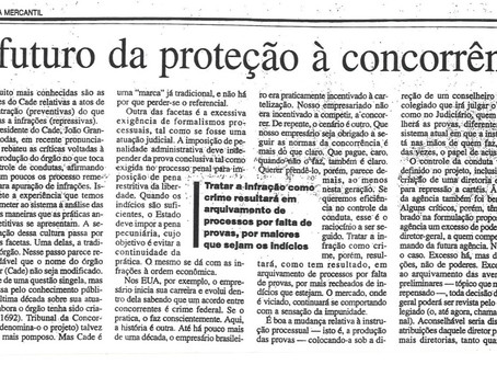 """""""O futuro da proteção à concorrência"""""""