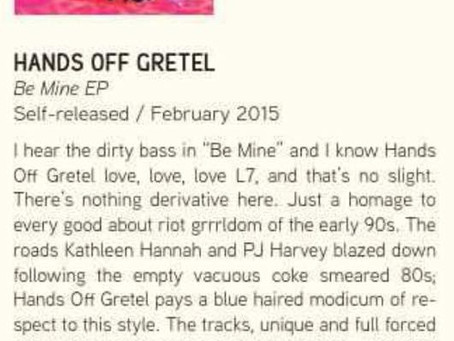 Hands Off Gretel featured in New Yorks Tom Tom Magazine!