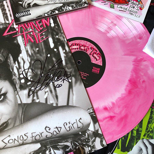 "'Songs For Sad Girls' Signed 12"" Pink Marble Effect Vinyl"