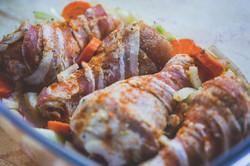 Chicken Bacon Veggie Bake