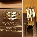 Gouden ring met drie diamanten, gemaakt