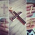 21karaat handmade cross, #cross #kruis #