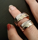 Hand gemaakte trouwringen , trouwringen laten maken