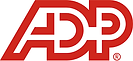 ADP logo in red and white
