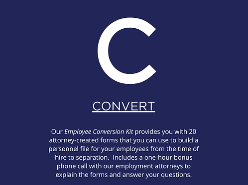 Employee Conversion Kit