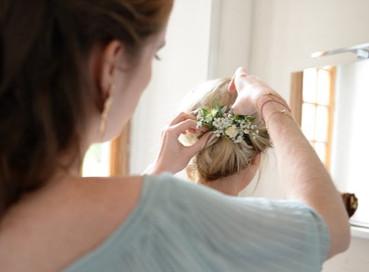 Barette fleurie