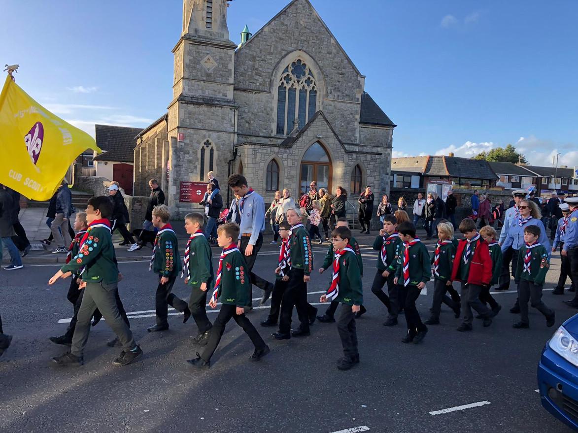 Cubs march past church 3.jpg