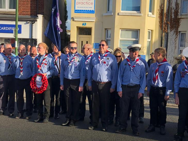 Scouts & Explorers waiting at War.jpg