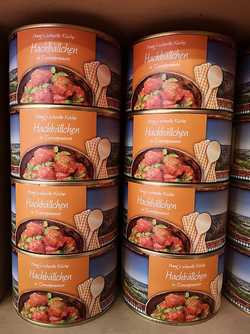 Hackbällchen in Tomatensoße 400g