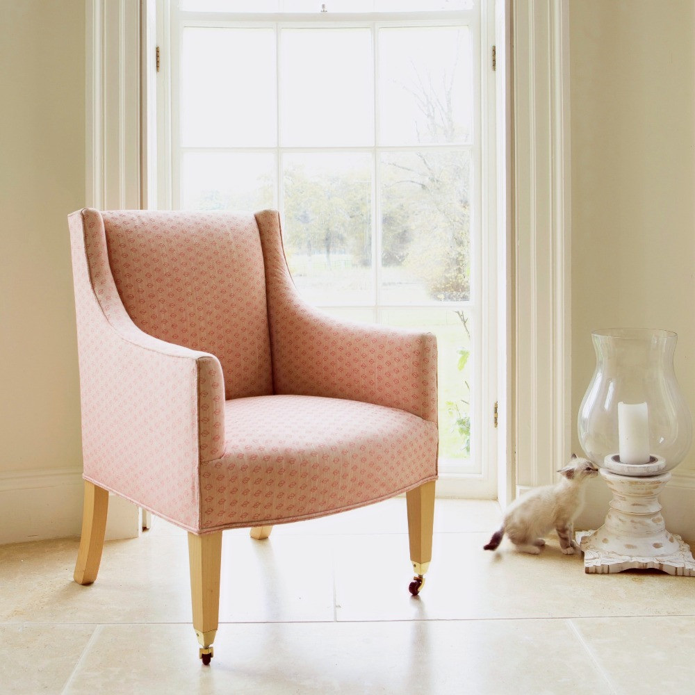 Parrett chair with tapered legs