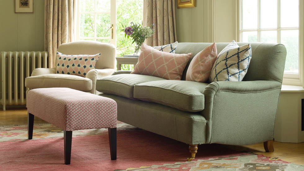 Upholstered sofas and armchairs