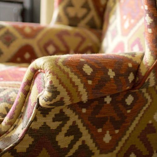 Otter chair scroll arm detail
