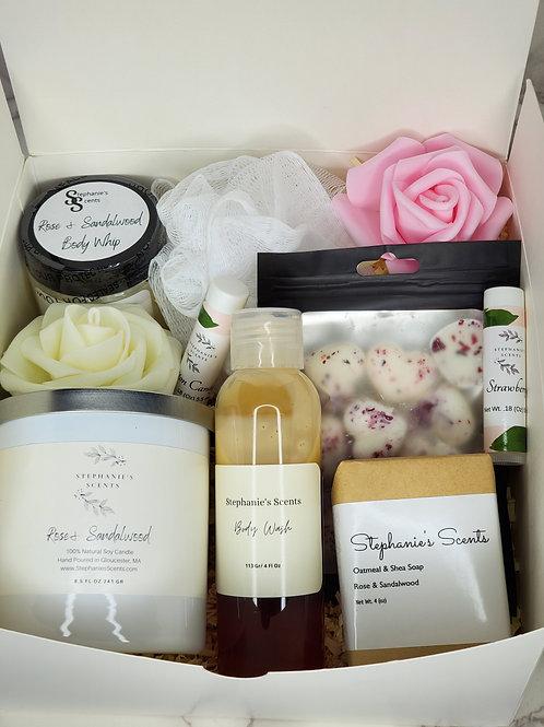 Rose and Sandalwood Gift Basket
