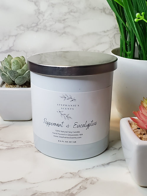 Peppermint & Eucalyptus Soy Candle