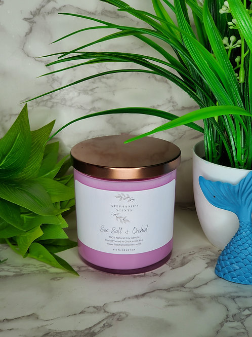 Sea Salt and Orchid Soy Candle