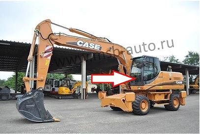 Стекло лобовое нижнее колесный экскаватор Case WX130, WX210,WX350,WX470, WX370,CASE WX700, 2-3- серия .