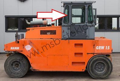 Стекло кузовное переднее левое HAMM GRW-15