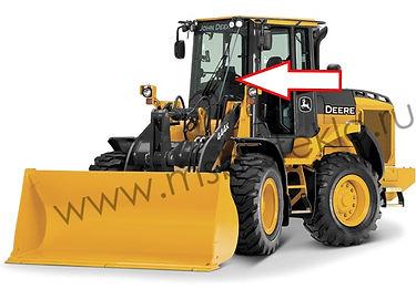 текло лобовое левое на фронтальный погрузчик John Deere 444K,524K,544K, 624K,644K, 724K,744K, 824K, 844K