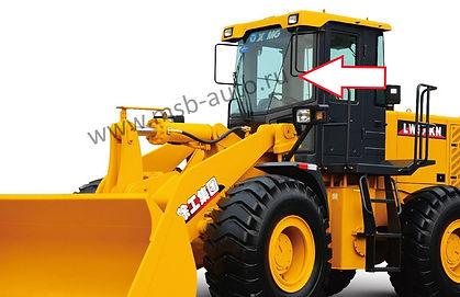 Стекло лобовое левое фронтальный погрузчик XCMG LW500KN