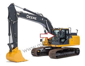 Стекло лобовое верхнее экскаватор John Deere 210 GLC-360 GLC