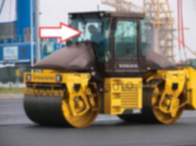 Стекло лобовое дорожный каток DD 95