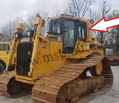 Cтекло кузовное заднее левое бульдозер Caterpillar D6R